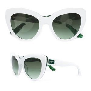 Dolce & Gabbana White Banana Leaf Sunglasses